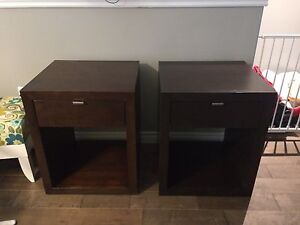 Modern night tables night stand beside tables mahogany