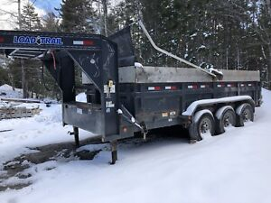 Load Trail 16' dump trailer tri axel fifth wheel gooseneck