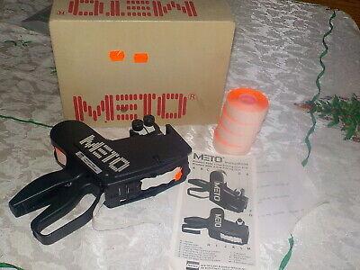 Meto 8505 Price Gun Label Sticker 2-line Pricing Gun Manual 4 Tag Rolls Box