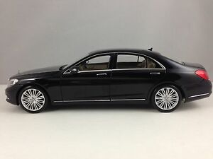 Norev Mercedes Benz S Class Sedan (W222) Black Diecast Model Car 1/18