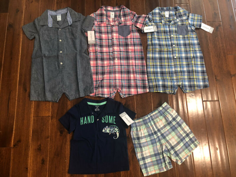 5 Piece Lot Of Baby Boy Spring/Summer Clothes Size 24 Months NWT