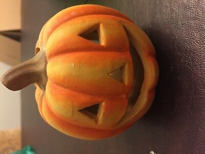 Halloween Pumpkin Candle Holder/nightlight