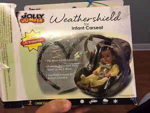 Rain cover for infant car seat