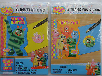 Yo Gabba Gabba Birthday Invitations AND Thank you Cards - Yo Gabba Gabba Invitations