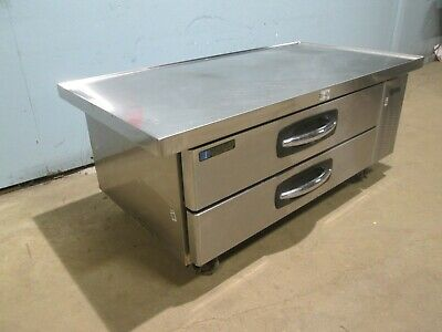 Master Bilt Cb60 Hd Commercial Ss Nsf- 60w Refrigerated 2 Drawers Chef-base