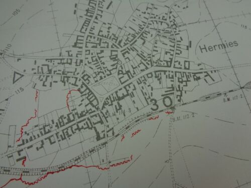 WW1 (1917) INFANTRY Trench Map (CANAL DU NORD, HERMIES, HAVRINCOURT, DEMICOURT)