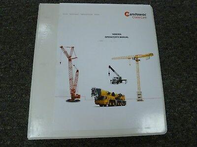 Manitowoc Model 16000wa Wind Attachment Owner Operator Maintenance Manual