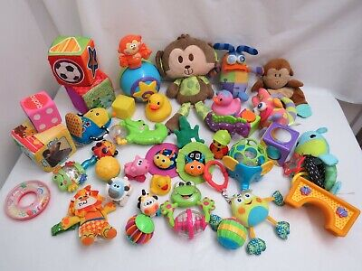 LOT OF BABY INFANT TOYS ANIMALS STROLLER CRIB FOR TOYS EDUCATIONAL
