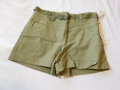 Kensie Girl Women's Junior's Shorts short Size 7 Olive Green w/ Belt NWT