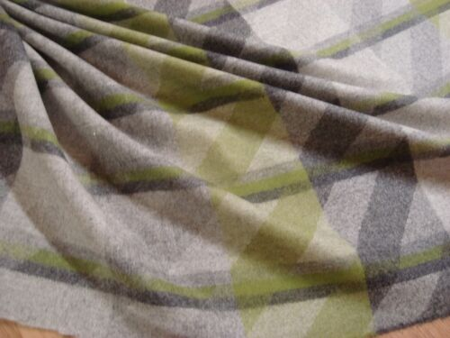 """One yd CAMIRA WOOL FABRIC Landscape Contact Upholstery Gray Green 60"""" x 36"""" BTY"""