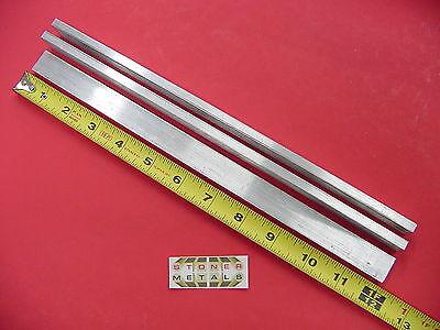 3 Pieces 14 X 34 Aluminum 6061 Flat Bar 12 Long Solid T6511 .25 Mill Stock