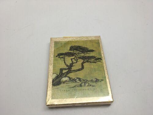 VTG Antioch Bookplate Co Cypress Tree Box 50 Bookplates-USA-NEW IN SEALED BOX