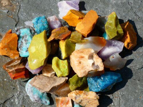 Natural Rock Tumble Mix Small - 2000 CARAT Lot- Gemstone Rough Rocks- Lapidary