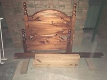 Single wooden bed frame with mattress St Marys Penrith Area Preview