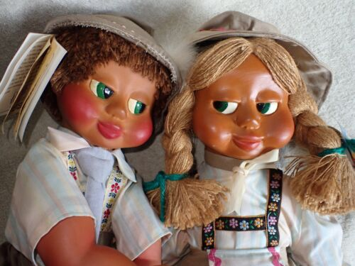 "Vintage NABER KIDS Boy & Girl Dolls 17""  Nice w/ Tag COA"