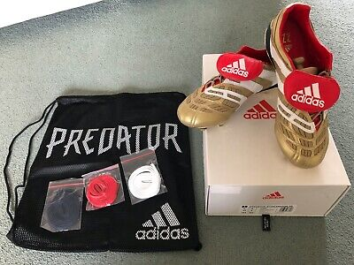 Mens Predator Accelerator Boots Zidane Gold Limited Collection UK 8