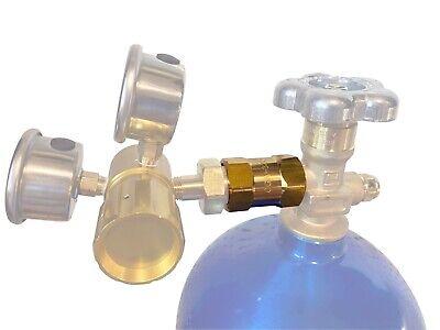 Cga-320 To Cga-580 Co2 Cylinder To Argon Nitrogen Regulator Brass Adapter