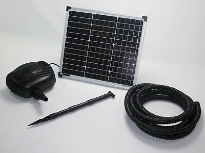 30 W Solar Pump Pond Dive Pump + 5m Hose Water Element Garden Pond Waterfall