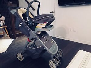 Stroller and car seat, new!.. Amber Quad Travel System