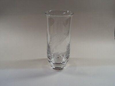 Edinburgh Crystal Vase with Salmon Signed