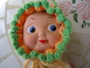 VINTAGE DOLL FACE POT HOLDER & STRING DISPENSER 1960'S Osborne Park Stirling Area Preview