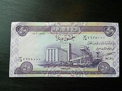 $50 Iraqi Dinar X2 100.00 Iraq IQD Uncirculated UNC Currency Banknote Sequential