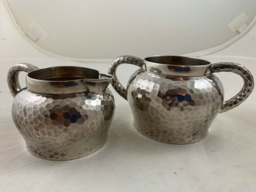 Tiffany Aesthetic Sterling Japanese Inspired Sugar/Creamer Moore Period 1877