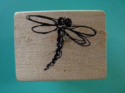 Single Dragonfly, Small - MAGENTA Rubber Stamp