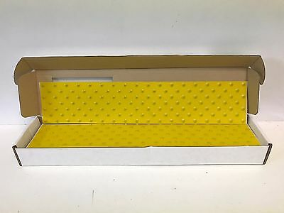 "BOX OF 10 NEW ULINE EXTREMEGRIP 5""X24"" YELLOW ADHESIVE TRACTION PADS S-19964Y"