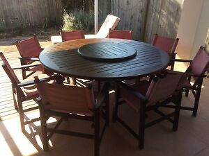 SOLID Kwila Timber 10pce Outdoor setting Springfield Ipswich City Preview