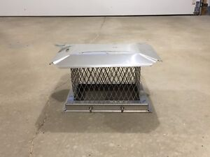 Stainless steel chimney cap 9.5x13.75