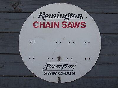 Rare Vintage REMINGTON Chain Saws PowerFlite SIGN Saw Chains Store Display