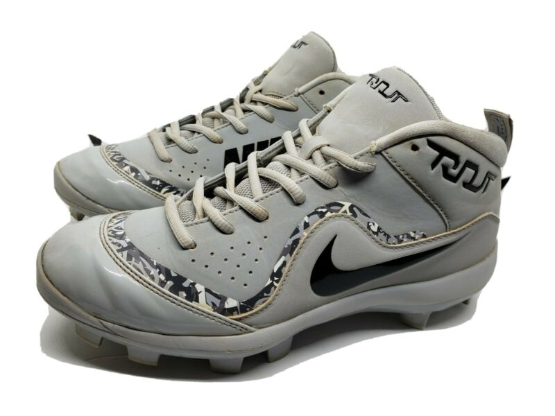 Nike Force Trout 4 Pro Gray Baseball Cleats Size 6Y Youth Shoes Mike Trout