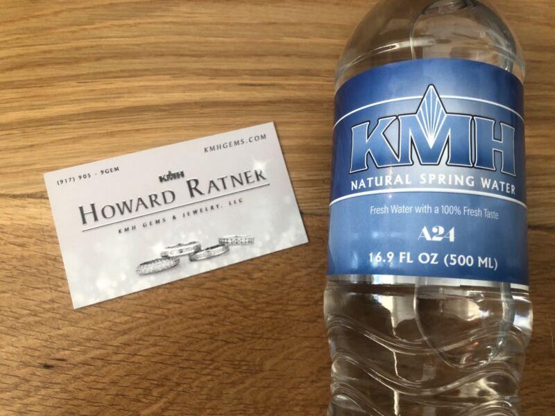 Uncut Gems Rare Howard Ratner Business Card + EMPTY KMH Water Bottle A24