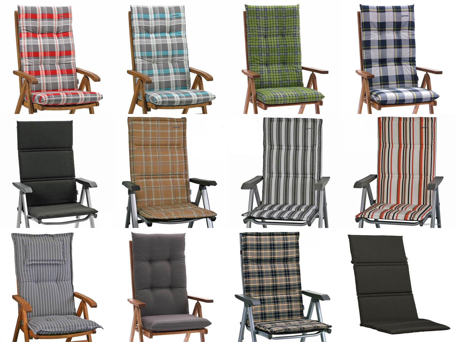 Kettler Auflagen in 12 Farben Gartenmöbel Kissen Sitzkissen Gartenpolster Sessel