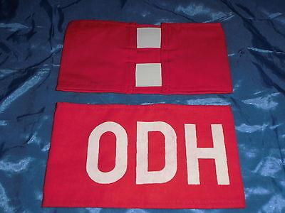 """13 : Armbinde / Militär /  Nationale Volksarmee / NVA / DDR ,  """" ODH """""""