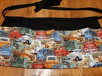 Waitress Apron 3 Pockets Retro Trucks