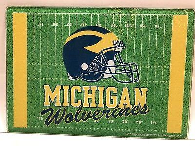 Michigan Board (Michigan Wolverines Glass Cutting Board Tray party cheese (Football Design))