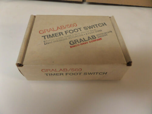 GRALAB 560  Timer Foot Switch---NEW