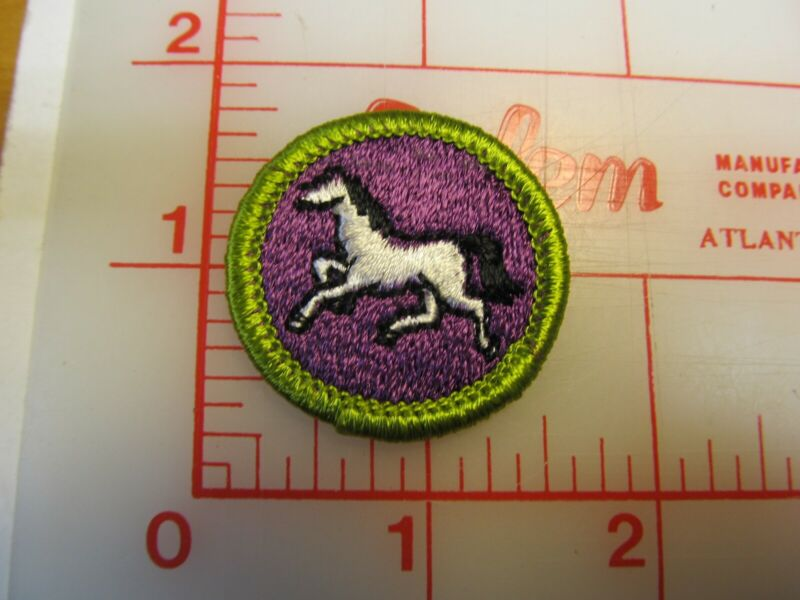 ANIMAL INDUSTRY merit badge plastic backed patch (oP)