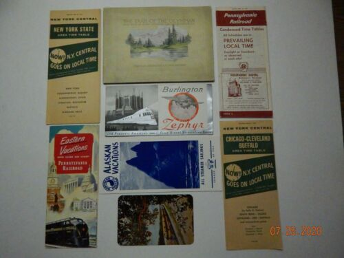 NEW YORK CENTRAL & OTHER TRAIN SCHEDULES & BROCHURES 1950's ERA PACKAGE