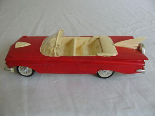 Vintage AMT Screw Bottom 1959 Chevrolet Impala Convertible Built Model Car Promo