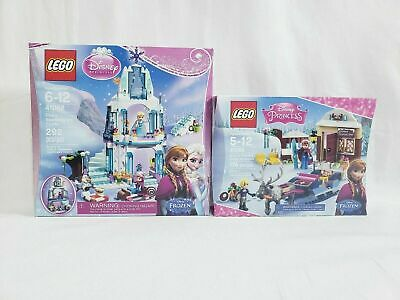 Lego Disney Frozen Elsa's Sparkling Ice Castle 41062 and 41066 Annas Sleigh Adve