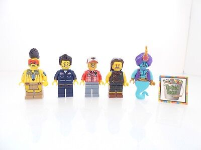 5 Assorted Series Collectible LEGO Minifigures Lot *A Genie Highlander Mechanic