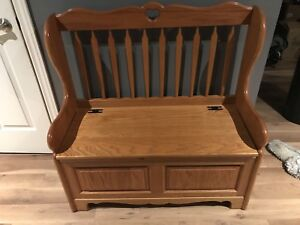 Solid oak bench/toy box