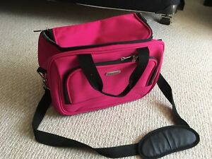 Tracker  carryon luggage pink