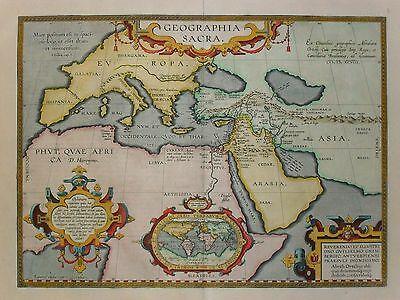 Geographia sacra - Europa, Nordafrika, Naher Osten von Abraham Ortelius - 1609