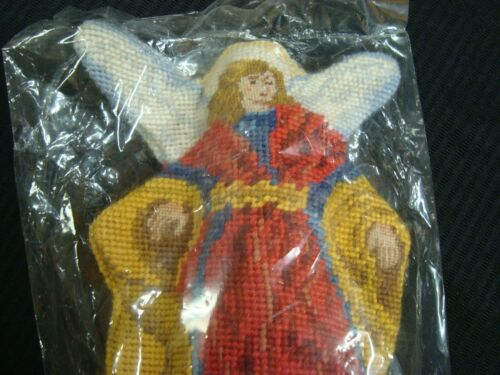 "NEW Lillian Vernon 1992 NEEDLEPOINT CHRISTMAS Angel Tree Topper 2975 11"" tall"