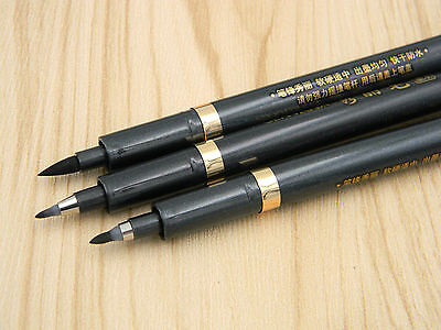 3pcs Set Size S M L Chinese Japanese Calligraphy Brush Pen