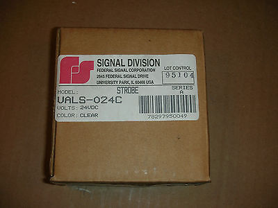 Federal Signal Visalert Vals-024c Warning Light Strobe Tube Clear White 24vac
